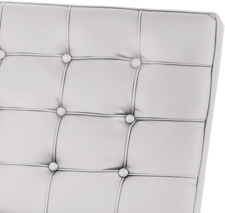 Black Footstool para sala de estar duradera acolchada r/éplica de ocio cl/ásica moderna oficina portica color negro Ybzx Silla de estilo Barcelona de mediados de siglo c/ómoda