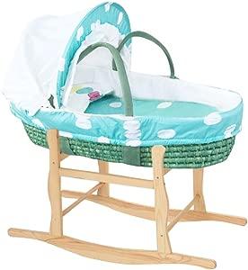 ALUK- Multifunction Baby sleeping basket Portable Newborn Shopping basket Baby straw Discharged basket Car Baby basket  color  2