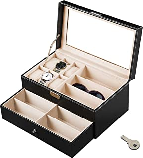 watch and glasses storage case