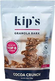 Kip's Cocoa Crunch Granola Bark, Free of Top 8 Allergens, Peanut Free, Nut Free, Gluten Free, Dairy Free, Soy Free, Egg Free, Vegan, Kosher (2 pack)