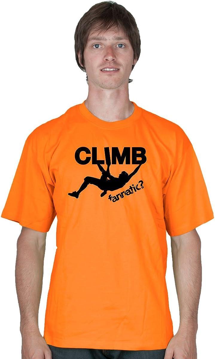 FANNATIC?- Camiseta manga corta Escalada: Amazon.es: Ropa y ...