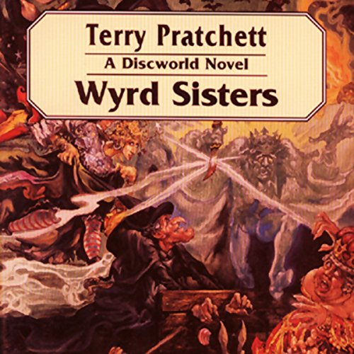 Wyrd Sisters audiobook cover art