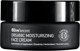 Olive'secret Organic Moisturizing Face Cream with Olive Oil and Cretan Mountain Tea, Contains Antioxidants Properties With Deep Skin Hydration With Panthenol & Hyaluronic acid. For all skin types