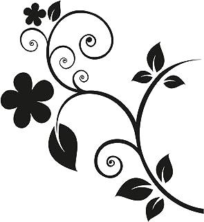 kleb Drauf | Blumenranke | Verschiedene Größen und Farben | Autoaufkleber Autosticker Decal Aufkleber Sticker | Auto Car Motorrad Fahrrad Roller Bike | Deko Tuning Stickerbomb Styling Wrapping