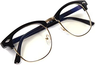 [FREESE] 超軽量 伊達メガネ クラシック ファッション伊達眼鏡 ブルーライトカット UVカット PCメガネ ウェリントン メンズ 【福岡発のアイウェアブランド FREESE】