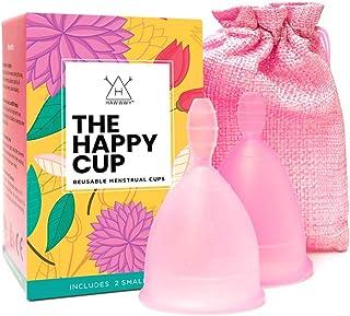Happy Cup Menstrual Cups Hawwwy Tampon & Pad Alternative Small Regular Flow Good-Grip Pull Design Eco Friendly Reusable FB...