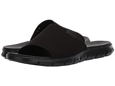 Cole Haan Zerogrand Stitchlite Slide (Black Knit Black) Men