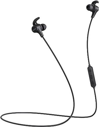AUKEY Latitude Cuffie Bluetooth, 3 Modalità di EQ Suono, Auricolare Magnetiche Wireless con Design di Resistente al Sudore e aptX per Apple Watch, iPhones, Huawei, Samsung Phones e altri Dispositivi
