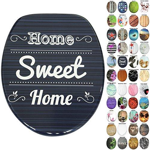 WC Sitz, viele neue WC Sitze zur Auswahl, hochwertige Oberfläche, stabile Scharniere, leichte Montage (Home Sweet Home)