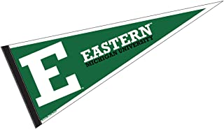 College Flags and Banners Co. Eastern Michigan University Pennant Full Size Felt