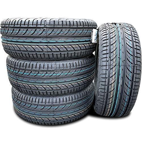 Set of 4 (FOUR) Premiorri Solazo Summer Performance Radial Tires-205/60R16 205/60/16 205/60-16 92V Load Range SL 4-Ply BSW Black Side Wall