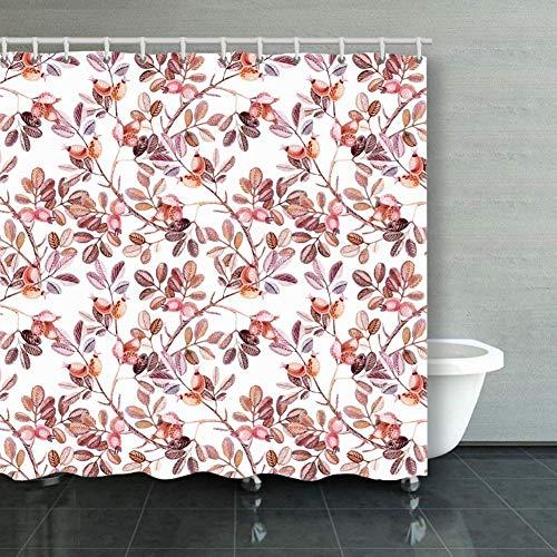 BGNHG Cortina de la Ducha Shower Curtain Watercolor Seamless Pattern D