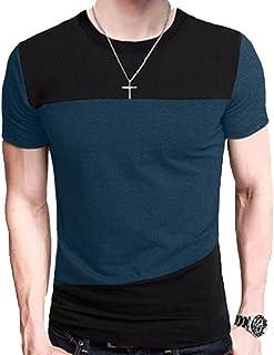 メンズ スタイリッシュ きれいめ クルーネック サロン お兄 系 ロング シャツ 長袖 柄 大きい サイズ 有 冬 秋 春 服 グレー ブラック