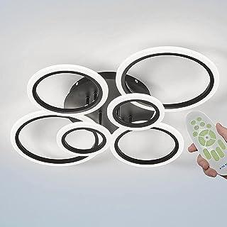 Plafonnier moderne à LED rond pour salon, lampe de plafond 3000 K-6500 K à intensité variable avec télécommande, chambre à...
