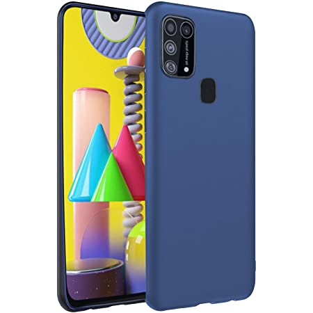 Pikkme Back Cover for Samsung Galaxy M21 / M30s Shock Proof Matte Soft Silicon Flexible Back Case Cover for Samsung Galaxy M21/ M30s (Blue)