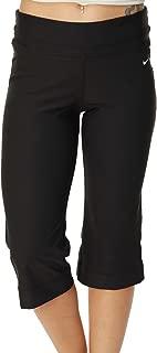 Womens Dri-Fit Work Out Training Capri Pants Black
