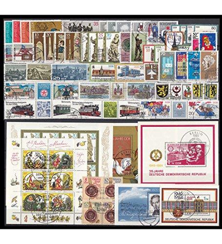 Goldhahn DDR Jahrgang 1984 gestempelt komplett Briefmarken für Sammler