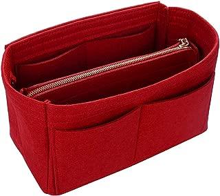 Jiyaru Felt Insert Bag for Tote Handbag Purse Organizer Bag in Bag Multi Pockets