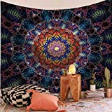KHKJ India Mandala Tapiz Colgante de Pared Decoración Tapices de Tela de Pared Psychedelic Hippie...