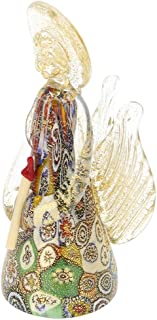 GlassOfVenice Murano Glass Golden Quilt Millefiori Angel