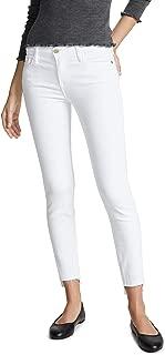 FRAME Women's Le Skinny De Jeanne Stagger Hem Jeans