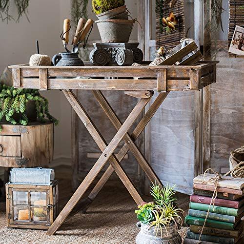 zenggp Scaffale di Stoccaggio del Vaso di Fiore della Casa del Giardino della Pianta del Supporto Pieghevole Dell'esposizione di Legno Solido della Pianta