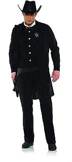 Underwraps Men's Wild West Dark Sheriff Cowboy Costume