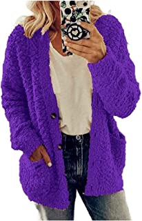 Howely Women Sherpa Lined Utility Pocket Plus Size Wool Fall Winter Wrap Coat