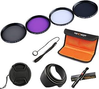K&F Concept 52mm Filtro de Cámara UV CPL FLD ND4 Filtro Kit para Lente Accessorios Filtro Set para Nikon D5300 D5200 D5100 D3300 D3200 D3100 DSLR Cámaras + Pluma de Limpieza + Capilla en Forma de Flor + Centro de Pellizco Tapa Del Objetivo + Cap Guardián + Bolsa de Filtro