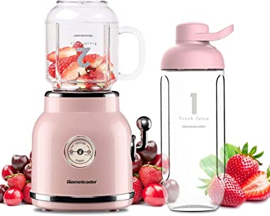 Smoothie Blender, Homeleader Personal Blender for Shakes and Smoothies, Portable Blender with 6 Sharp Blades, 21oz Travel Cup