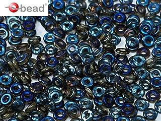 0.18oz (5g) O-Bead - Czech Glass Pressed Beads in Donut-Shape 1x4 mm Crystal Azuzo