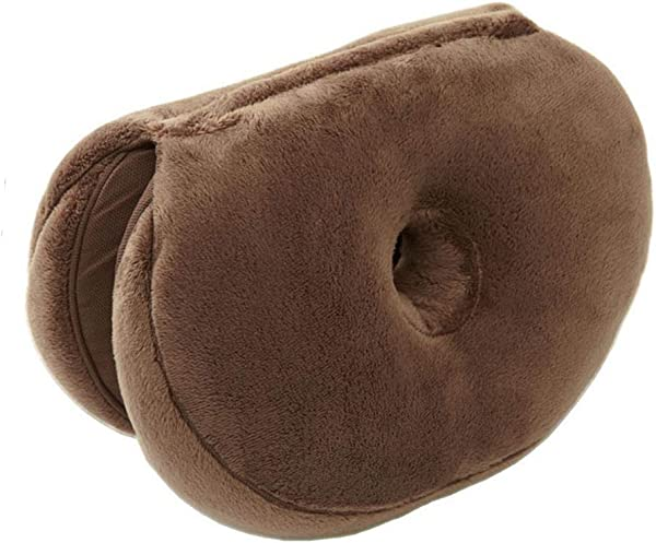 FOONEE Beautiful Buttocks Seat Cushion Donut Seat Cushion Multifunction Foldable Waist Buttocks Plush Cushion Pink Seat Cushion For Lower Back Tailbone And Sciatica Relief