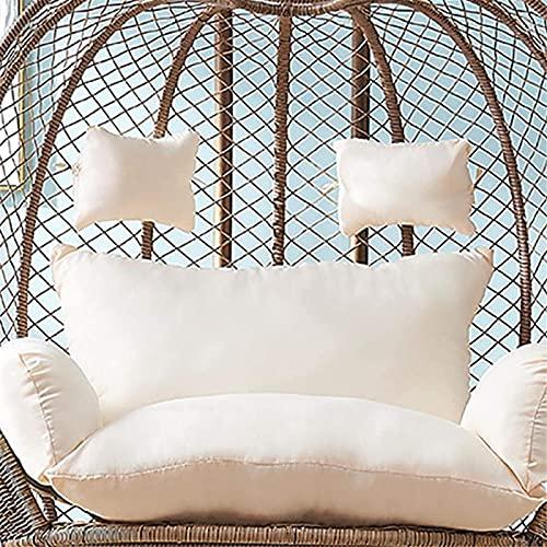 LTHDD, cuscino rotondo per sedia a dondolo, cuscino in rattan, senza supporto, cuscino per sedia a dondolo, lavabile, 110 x 150 cm, colore: beige, dimensioni: 110 x 150 cm