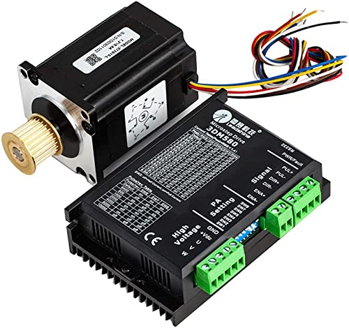 wholesale Cloudray outlet sale Leadshine 3 Phase Stepper Motor 573S15-L-18+Stepper Driver 3DM580 for CO2 online Laser Engraving Cutting Machine online