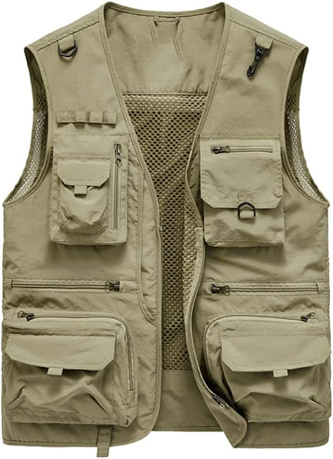 Max 71% OFF Fishing Vests for Free shipping on posting reviews Men Photography Multi-Pocket Vest