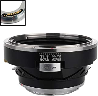 Fotodiox Pro TLT ROKR - Tilt/Shift Lens Mount Adapter Compatible with for Bronica SQ Mount Lenses to Canon EOS (EF, EF-S) Mount D/SLR Camera Body - with Gen10 Focus Confirmation Chip