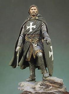 1/32 54Mm Knight Hospitaller 54Mm Historyczny Model Figurki Z Żywicy Zestaw Miniatur Unassambled Niepomalowany