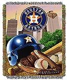 MLB Houston Astros 'Home Field Advantage' Woven Tapestry Throw Blanket, 48' x 60'
