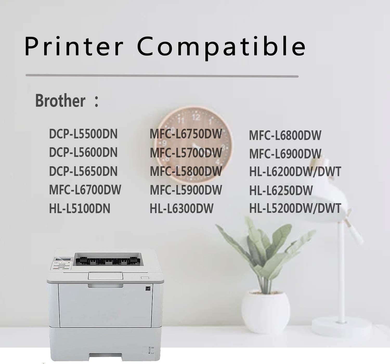 (1-Pack Black) Compatible DR-820 Drum Unit Replacement for use in Brother DCP-L5500DN L5600DN L5650DN MFC-L6700DW L6750DW L5700DW L5800DWL6900DW HL-L6250DW L6300DW L5000D L6400DW/DWT Printer Drum Unit