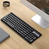 Wireless Computer Keyboard,USB Ergonomic Keyboard, Quiet Mechanical Keyboard (Black)