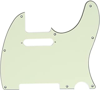 Musiclily 8 Hole Telecaster Pickguard Guitar Scratch Plate for USA/Mexican Made Fender American Standard Tele Modern Style Electric Guitar,3Ply Mint Green