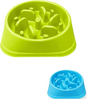 Dog Feeder Slow Eating Pet Bowl Eco-Friendly Durable Non-Toxic Preventing Choking Healthy Design Bowl for Dog Pet Non-Slip...