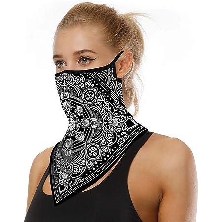 Riou Face Shield Multifunktionstuch Motorrad Mundschutz Halstuch Bandana Schlauchschal Für Damen Herren Bekleidung