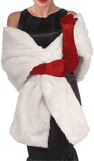 White Faux Fur Wrap Stole - One Size
