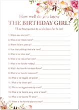 Boho Floral How Well Do You Know the Birthday Girl (24)