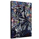 SANTA RONA Darth Vader Painting Canvas Prints Star Wars Abstract Poster Wallpaper for Living Home Room Wall Mural Decoration (12'x18', No Framed)