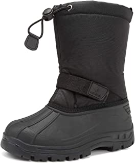 CIOR Toddler Snow Boots for Boy Girl Winter Outdoor Waterproof with Fur Lined(Toddler/Little Kids)