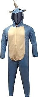 Merchandising Men's Rainbow Unicorn Fleece One Piece Union Suit Pajama