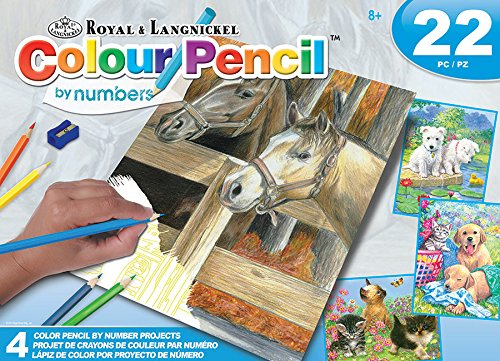 Royal Colour Pencil by Number Activity Set Animals