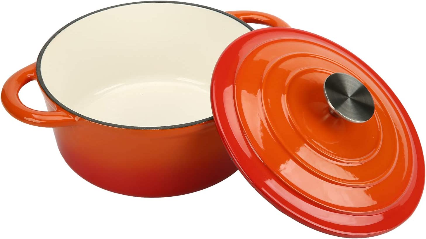 COOKWIN Enameled Cast Iron List price Dutch Oven Basting Non Self Translated Lid with